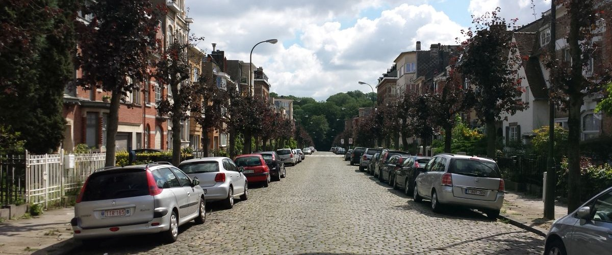 Our street in Brussels
